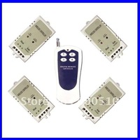 6 Channels 315/433MHz DC 9V/12V/24V Wireless Remote Switch - 1 Transmitter to 4 Receivers - 3 Control Modes