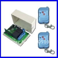 2 Channel 315/433MHz DC 9V/12V/24V Wireless Remote Switch - Transmitter & Receiver - Toggle Control Mode