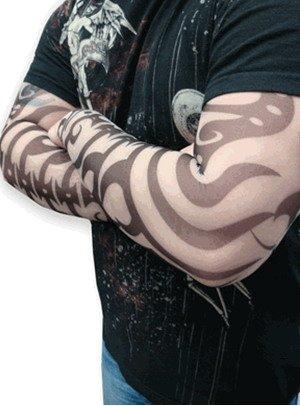 100X diferente Adulto Tribal Tattoo Sleeve Braço / Halloween Costume Pernas Meias 140 Estilos(China (Mainland))