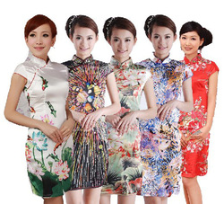 Summer 2012 women's cheongsam vintage chinese style faux silk sexy short design fashion improved cheongsam dress(China (Mainland))