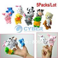 5Packs/Lot(1Pack=10Pcs) Cartoon Animal Finger Puppet,Finger Toy,Finger Doll,Baby Dolls,Baby Toys,Animal Doll Free Shipping