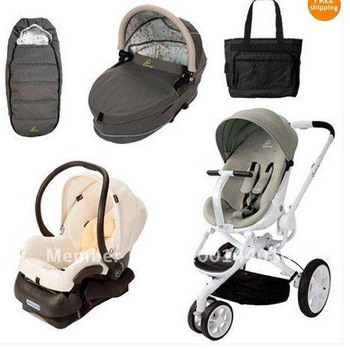Quinny CV078BFV Moodd Stroller Complete Collection in Natural Delight