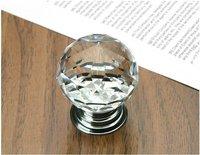10pcs/lot 30mm K9 Cabinet Crystal Knobs Door Handles / furniture pull crystal shift knob crystal drawer pulls and knobs