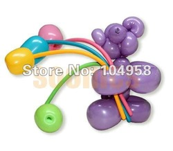 Free Shipping 500pcs/lot Long Balloons Animal Tying Making DIY Decoration Latex Twist Assorted Party(China (Mainland))