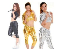 Jazz dance clothes ds stage costumes, HIP-HOP harem style fashion suit, sexy nightclub clothing,T-shirt + trousers Free Shipping
