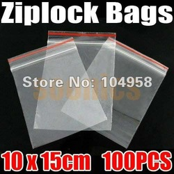 100pcs/lot Jewelry Ziplock Zip Zipped Lock Reclosable Plastic Poly Clear Bags Free Shipping &amp; Drop Shipping(China (Mainland))