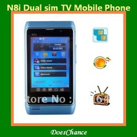 "N8i n8mini 2.8"" dual sim dual camera tv unlocked phone"