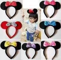 Free shipping+16pcs/lot+Foreign Trade Korea Micky Pattern Children's Head band,Head stick,Cartoon Hair Accessory For Festivals