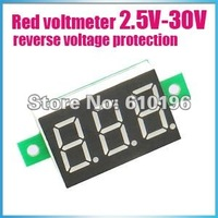 Wholesale Brand New DC 2.5V-DC30V RED Digital Voltage Panel Meter Voltmeter 30PCS