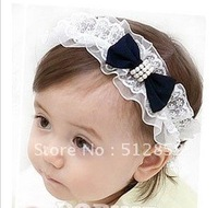 Free shipping Silks and satins bowknot children's hair band/baby hair ornament hair band wholesale