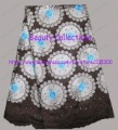 FREE shipping by DHL,african handcut lace fabric,swiss voile lace,wedding lace, 100%cotton,BCL00912 COFFEE/WHITE/TURQUOISE