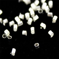 "Free Shipping wholesale 500PCS Silver plated Crimp Tube End beads/tube seed beeds 1.5x1.5mm/0.05X0.05"" DIY findings(DWZS1.5)"
