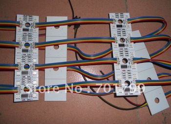 20pcs/string NON-waterproof led pixel module,4pcs SMD RGB 5050,1pcs WS2801,256 gray level,DC12V,0.96W