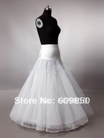 2014 free shipping  hot  in stock white  beauiful bridal wedding petticoat