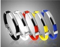EMS free shpping 120pcs/lot Christmas Gift Fashion Power Titanium Sports Ion Balance Band  Magnetic Bracelet