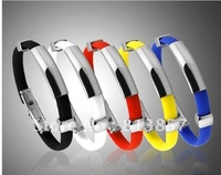 DHL 100pcs Free Shipping Christmas Gift Health Titanium power Ion 2000 Magnetic Bracelet silicone wristbands Ionic Energy Bands