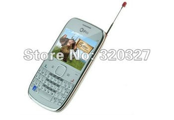 Free Shipping IPro I7 pro mobile phone QWERTY Keyboard cell phone TV+ Bluetooth+FM+Camera+Dual SIM card
