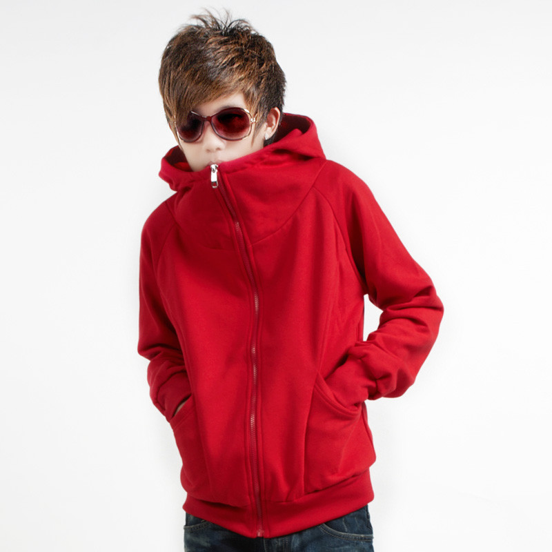 Non-mainstream men's clothing cardigan sweatshirt 2012 autumn trend straight with a hood male thin outerwear(China (Mainland))