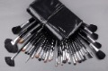 Wholesale Professional 1Set/lot New Professional Makeup 32 PCs Brush Cosmetic Make Up Set With belt, Free shipping