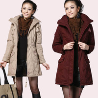 FREE SHIPPING ! 2012 winter women's plus size medium-long wadded jacket ,winter coat