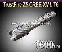 5pcs/lot,TrustFire Z5 Cree XM-L T6 1600LM Zoom LED FlashLight Torch