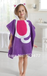 Soft cotton high quality 100%cotton Bathrobes/baby wear/baby clothes/ cartoon's bathrobe /hooded towel/baby bath towel(China (Mainland))