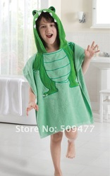 sell 100%cotton Bathrobes/Hooded Baby Bathrobe/Baby bath Towel /hooded towel/100%cotton printed baby bath towel(China (Mainland))