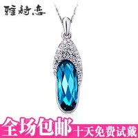 free shipping wholesale ITALINA crystal necklace female glass shoes accessories