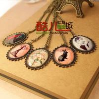 free shipping wholesale 10pcs/lot E4158 queer accessories fashion vintage gem eiffel tower flower necklace