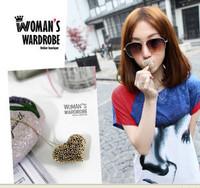 free shipping wholesale 10pcs/lot E4030 accessories vivi lena cutout heart exquisite necklace