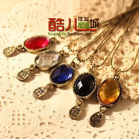 free shipping wholesale 10pcs/lot free shipping wholesale 10pcs/lot E4183 queer accessories fashion vintage gem letter necklace