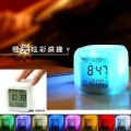 E9019 colorful color mood alarm clock small night light multifunctional timing small night light calendar music clocks