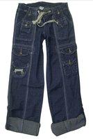 More women's jeans pocket overalls dress pants