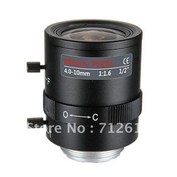 2 Mega Pixel 4-10mm Manual Iris F1.6 C Mount CCTV Lens Mega Pixel Lens KEV0410MCHR
