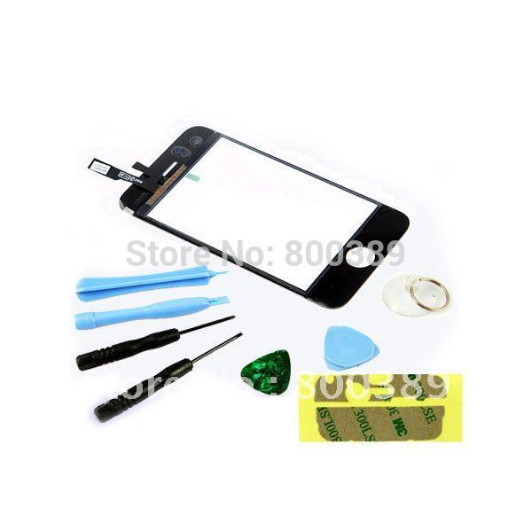 Wholesale Replacement LCD Touch Screen Glass Digitizer for iPhone 3GS + Free Tools Kit Black Free Shipping(China (Mainland))