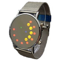 New arrival ultra-thin ball-and-roller style led mirror watch fashion led watch lovers table