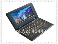7 inch EPC mini notebook or laptop with 256M/2GB ,windows CE or Androi systerm drop shipping, free shipping 20pc hot