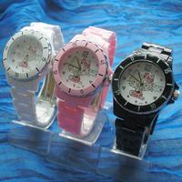 Hello kitty star watches diamond cartoon transparent watch box