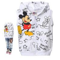 Free shipping new autumn outfit cotton children vest boy's female children's wear sleeveless vest vest