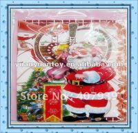 Free ship  2012 hot  Christmas cards toy    Christmas  Santa Claus card