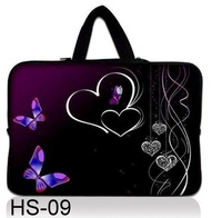 "Butterflys Personality 9.7"" 10"" 10.1"" inch 10.2"" Laptop Notebook Bag Carrying  Tablet PC Sleeve Case Cover pouch w/ Hide Handle"