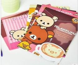 Free shippping, New Rilakkuma file folder, A4 document file bag, Documents holder, Lovely stationery, Wholesale price (ss-304)(China (Mainland))