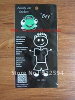 Free shipping Family Boy Car Stickers