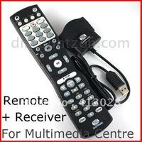 Microsoft Windows XP Vista/7/Linux XBMC XBOX Media Center PC Remote controller set+ USB IR Receiver free shipping
