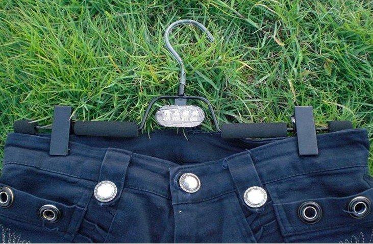 Shipping Free 10pcs luxury anti slip sponge Magic trousers hanger/rack multifunction pants closet hanger with clamp(China (Mainland))