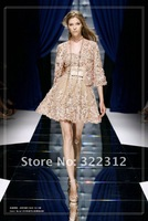 Zuhair Murad Couture 2013 A-line Champagne Beautiful Appliques Mini Short Pretty Party Gown Cocktail Dress with Bolero Jacket