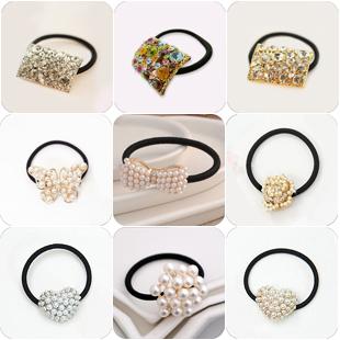 wholesale rhinestone pearl cutout hair accessory   top grade alloy jewe hair rope