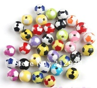 AAA Quality, Hottest Fashion 12MM Mixed Color 550PCS A Lot Football Acrylic Beads Loose, Round Acrylic Beads Wholesale!!