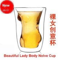 Free CN Shipping 6PCS/LOT 2012 Newest Beautiful Naked Lady Body Novel Shot Glass Cup 160ml