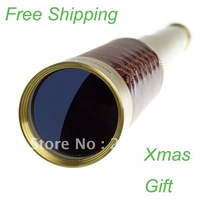 Free Shipping 25 X 30 telescopic Nautical Adjustable Monocular Pirate Spyglass Telescope Xmas Gift